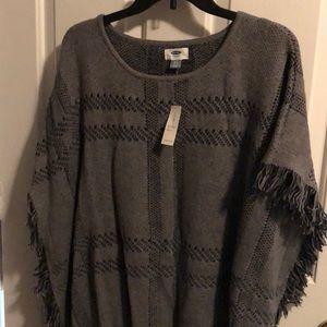 Grey Poncho Sweater